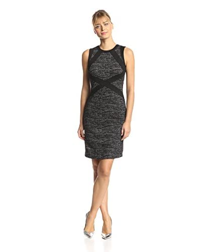Adrianna Papell Women's Sleeveless Ponte Knit Dress