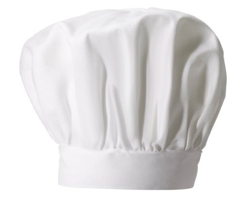White Adult lightweight CHEF HAT - Great for Cooking or halloween Parties - Inexpensive