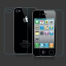 MVTH 2 in 1 Apple iphone 4 4s front and back Premium Tempered Glass Screen Protector Scratch Guard Shield (Clear)