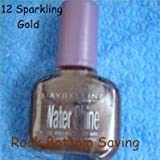 Maybelline Water Shine Wet Look Nail Polish / Varnish - 12 Sparkling Gold