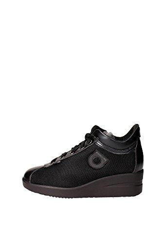 Agile By Rucoline 226 A Sneakers Donna Pelle/tessuto Nero Nero 39