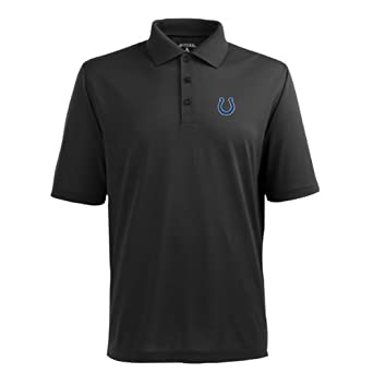 NFL Mens Indianapolis Colts Pique Xtra Lite Desert Dry Polo Shirt by Antigua