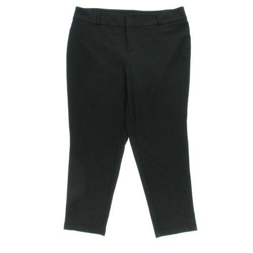 Michael Kors Womens Plus Ponte Flat Front Dress Pants Black 14W