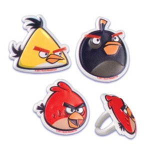 Best Review Of Angry Birds Cupcake Rings - Birthday Party Favors - 12ct