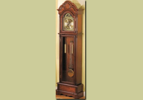 Beautiful Cherry Grandfather Clock Wood Curio Chime