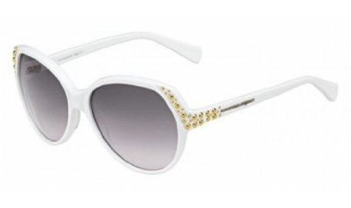 Alexander McQueenA. McQueen 4216/S Sunglasses-0C29 White (EU Gray Gradient Lens)-58mm