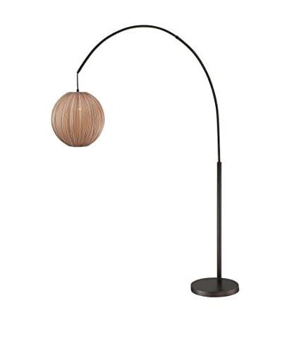 Lite Source Kaden 1-Light Floor Lamp, Copper Bronze/Light Brown