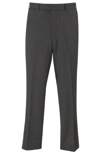 Brook Taverner Dawlish Suit Trouser in Charcoal Birdseye 30L