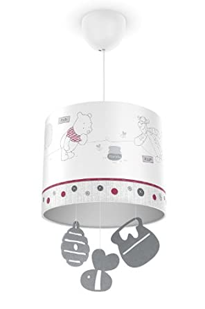 Philips e Disney, Lampadario Sospensione LED, Paralume con Pendenti, Winnie t...