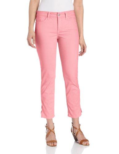 NYDJ Women's Lisa Zipper Ankle Jeans, Flamingo, 8