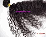 Kinky Curly Hair Extensions 14 Inches Dark Brown Hand-tied Weft