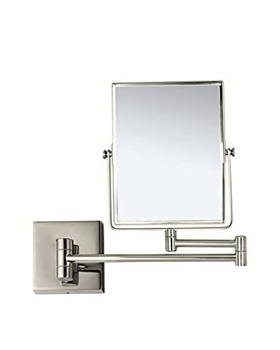 Nameeks Double Face 3X Wall Mounted Makeup Mirror, Satin Nickel Finish