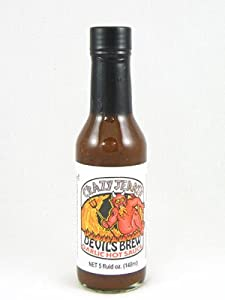 Crazy Jerrys Devils Brew Garlic Hot Sauce from Crazy Jerry's