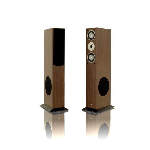 1 Paar Standlautsprecher Mohr SL15 Nussbaum Lautsprecherboxen Lautsprecherbox Lautsprecher