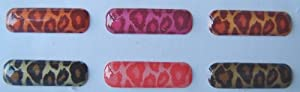 n7100 6 in 1 coloful Leopard Home Button Sticker for Samsung Galaxy Note II 2