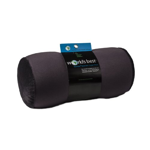 Review Of World's Best Air Soft Microbeads Tube Pillow, Charcoal