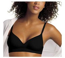 Playtex Thank Goodness It Fits Wire Free Seamless Bra (38 Nearly C, Black)