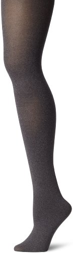 Hue Women's Super Opaque Control Top Tights, Graphite Heather, 3