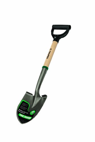 Truper 31196 Tru Tough 19-Inch Short D-Handle Round Point Shovel, 19-Inch Wood