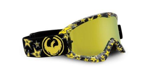 Dragon Rockstar Energy Goggles Black and Yellow