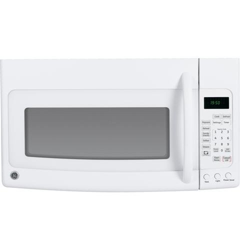 GE JVM1950DRWW Spacemaker 1.9 Cu. Ft. White Over-the-Range Microwave