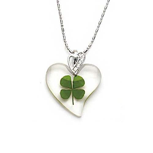 stainless-steel-real-irish-four-leaf-clover-lucky-love-heart-clear-pendant-necklace-16-18-inches