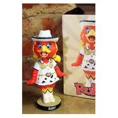 OKC REDHAWKS BASEBALL 8 Ruby Mascot Bobble-Head Figure by REDHAWKS