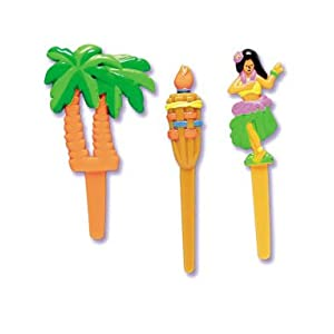 Click to buy Luau Hawaiian Cupcakes Picks - 12ctfrom Amazon!