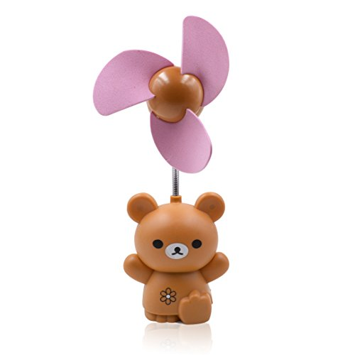 Aisi® Cartoon Bear Portable Mini Desktop Fan (Brown)