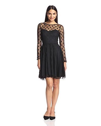 Eva Franco Women's Tracy Mesh Yoke Dress