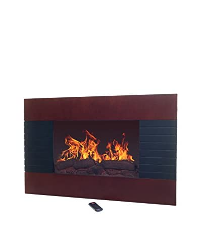 Northwest Electric Fireplace with Wall Mount & Remote, Mahogany/Black