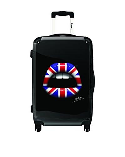 Ikase 24″ Lips 3D London Rolling Luggage, Multi