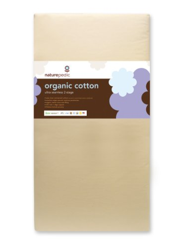Naturepedic No Compromise Organic Cotton Ultra 252 Seamless Dual Firmness Crib Mattress