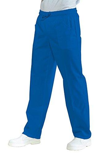 Isacco-pantaloni unisex al medico, con bordo elastico, colore: blu ciano blu L