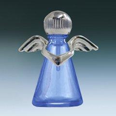 ヤマダアトマイザー パフュームボトル 小ビン 10677 天使 ブルー シルバー 約2.5ml