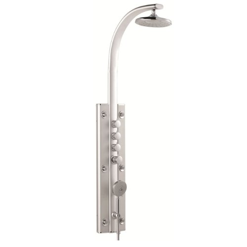 Cheapest Prices! Aluminium Thermostatic Shower Panel Tower Massage System - Round Rainfall Head, Han...