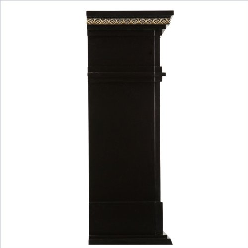 Southern Enterprises Donovan Electric Fireplace in Black Finish