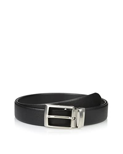Emporio Armani Men's Trouser Belt, Black/Nero/Nero