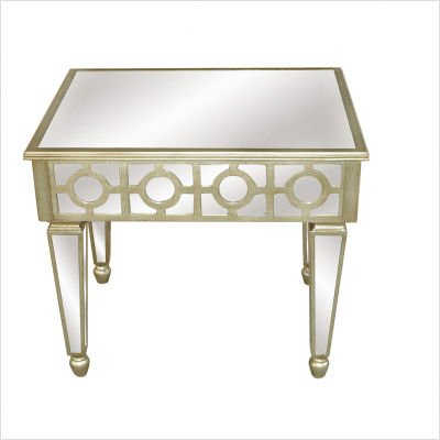 Image of Crestview CVFZR037 Mirrored End Table in Silver (CVFZR037)