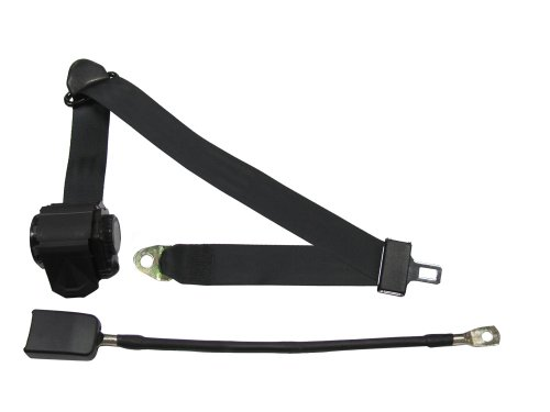 Seat Belts Plus Wsch14134C-18 - 3 Point Retractable Seat Belt With End Release Button 18 Inch Cable - Non-Retractable - Dark Brown front-449394