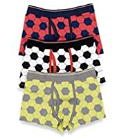 3 Pack Cotton Rich Football Trunks