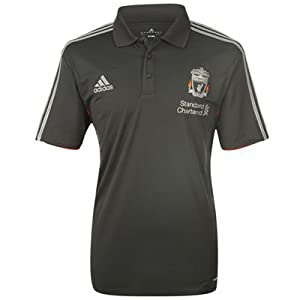Adidas Liverpool Climalite Blacksilver Polo Jersey 44-46 by Adidas