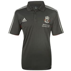 Adidas Liverpool Climalite Blacksilver Polo Jersey 44-46 by Adidas