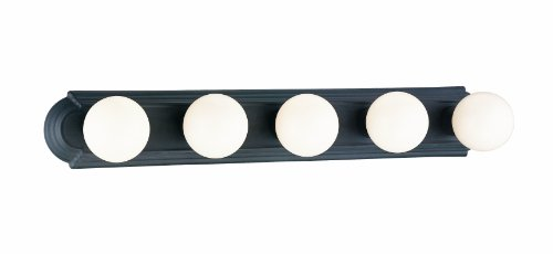 Sea Gull Lighting 4455-15 Four-Light Vanity White Finish with White Ceramic Glass