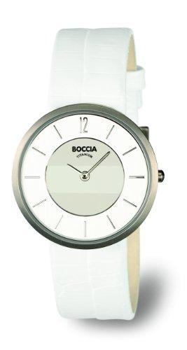 Boccia Ladies Titanium Leather Strap Watch B3114-09