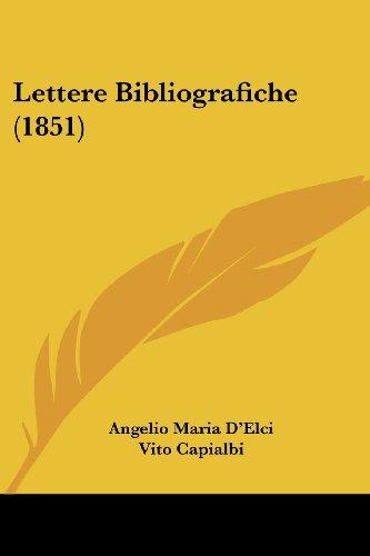 Lettere Bibliografiche (1851)
