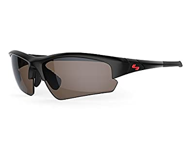 Sundog TB Clutch Sunglasses, Rubber Black Frame/Brown FM Lens