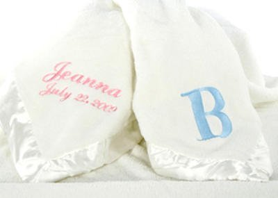Personalized Embroidered Baby Blanket front-509301