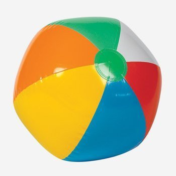 "One Dozen ~(12)~ 6"" Rainbow Colored Beach Balls"