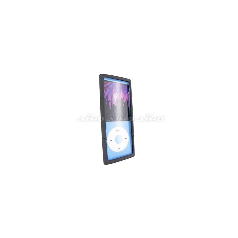 Apple iPod Nano 4 (4th Generation) Rubberized Hard Case Two Piece Slider All Black